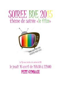 Affiche SOIREE BDE
